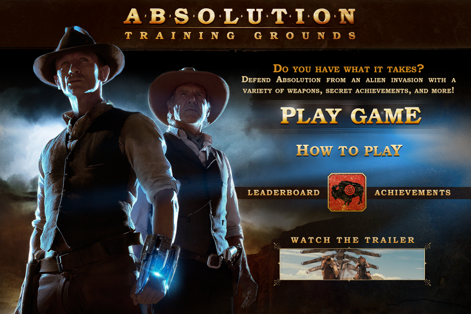 Screenshot Cowboys & Aliens: Absolution Training Grounds